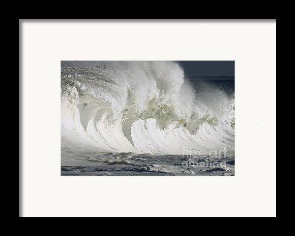 Wave Whitewash Framed Print By Vince Cavataio