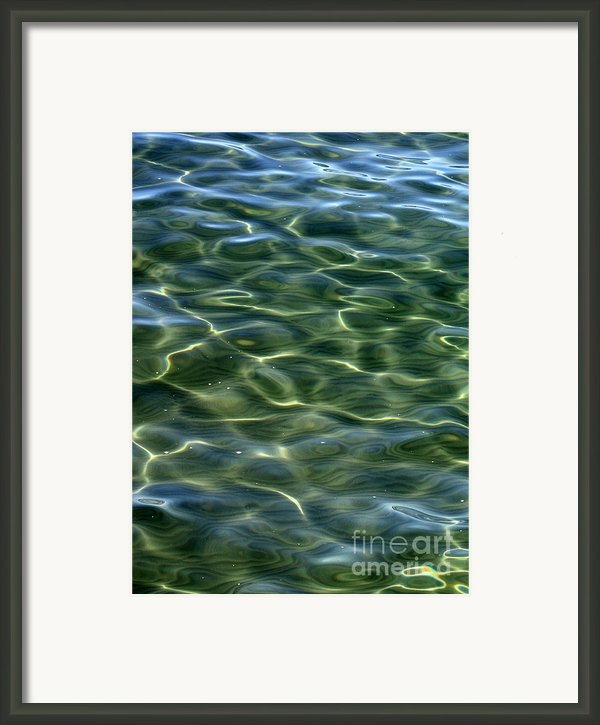 Waves On Lake Tahoe Framed Print By Carol Groenen