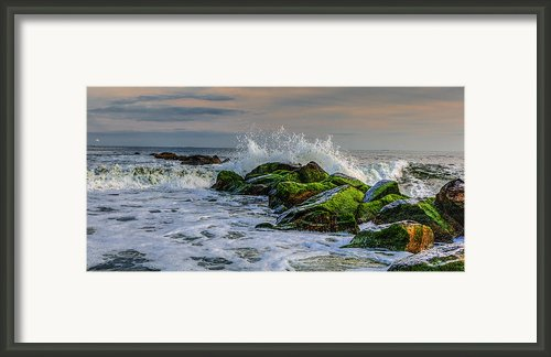 Waves On The Jetty Framed Print By David Hahn