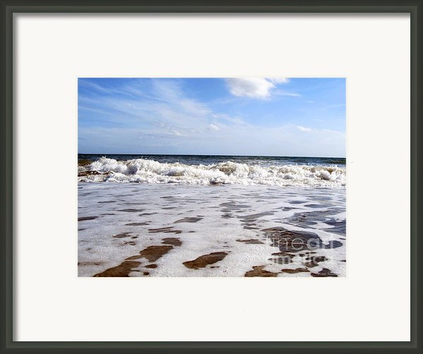 Waves Framed Print By Ramona Matei