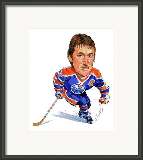 Wayne Gretzky Framed Print By Art