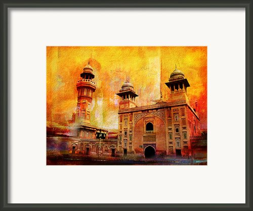 Wazir Khan Mosque Framed Print By Catf