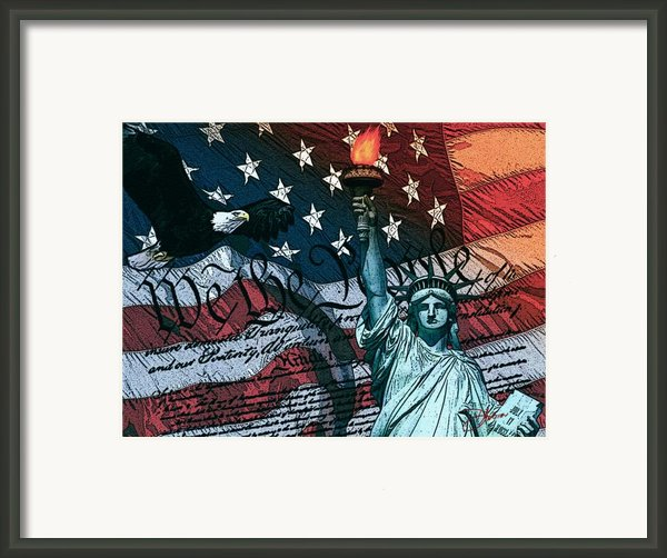 We The People For Canvas Framed Print By Dancin Artworks