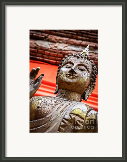 Wear-and-tear Buddha Framed Print By Dean Harte