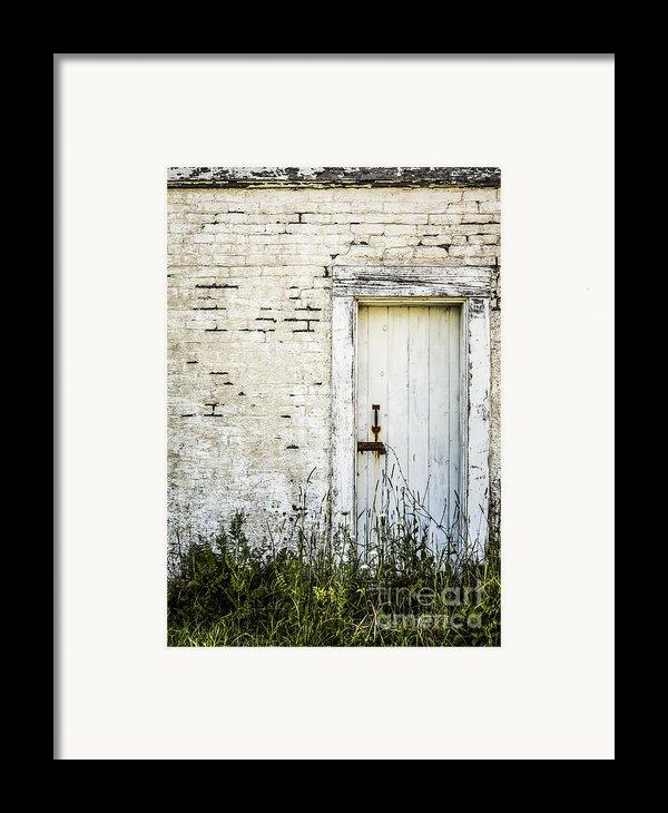 Weathered Door Framed Print By Diane Diederich