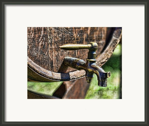 Weathered Tap And Barrel Framed Print By Paul Ward