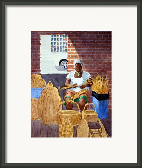 Weaving Framed Print By Julia Rietz
