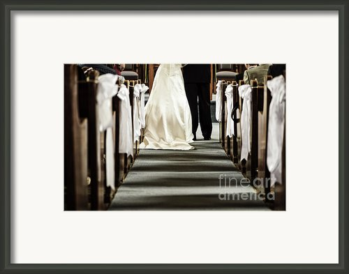 Wedding In Church Framed Print By Elena Elisseeva