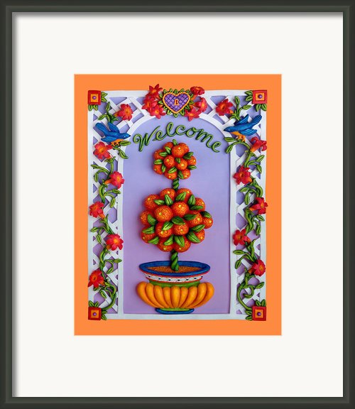 Welcome Framed Print By Amy Vangsgard