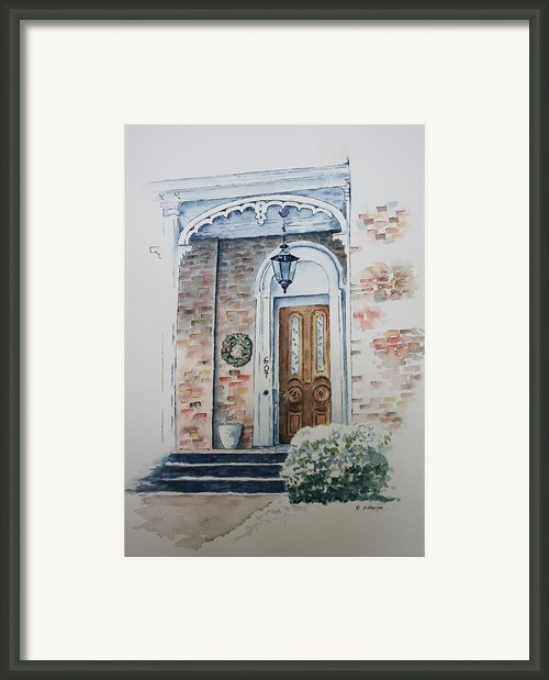 Welcome Christmas Framed Print By Patsy Sharpe