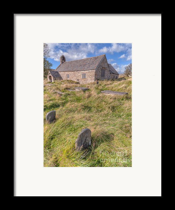Welsh Tombs Framed Print By Adrian Evans