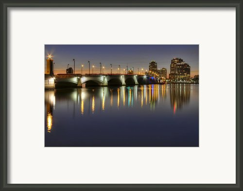 West Palm Beach At Night Framed Print By Debra And Dave Vanderlaan