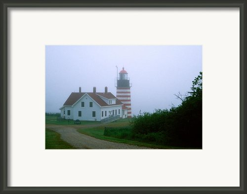 West Quoddy Lighthouse Framed Print By Amanda Kiplinger