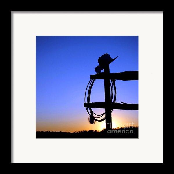 Western Sunset Framed Print By Olivier Le Queinec