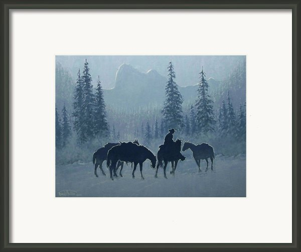 Western Winter Framed Print By Randy Follis