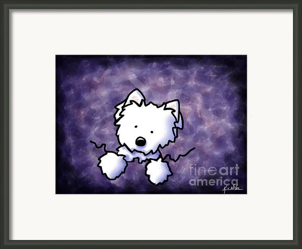 Westie Purple Bliss Framed Print By Kim Niles