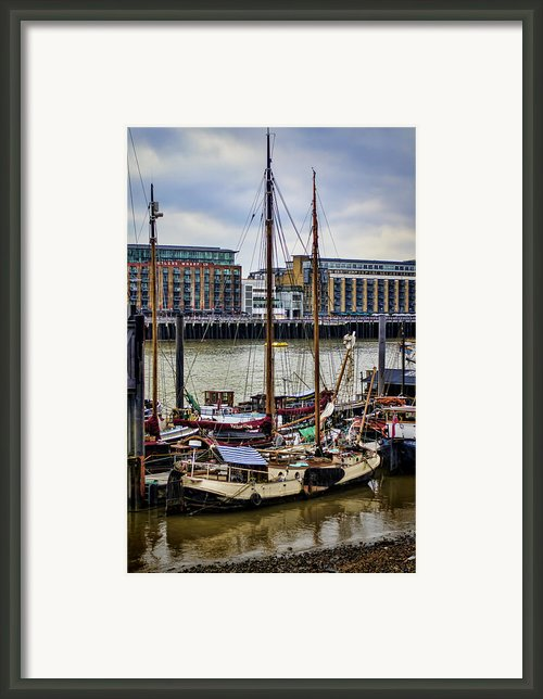 Wharf Ships Framed Print By Heather Applegate