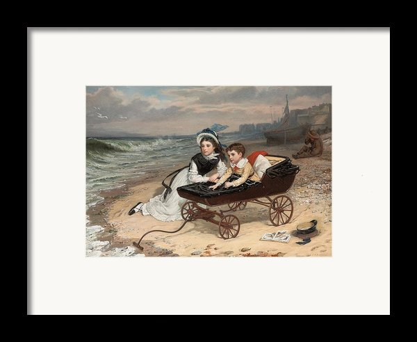 What Are The Wild Waves Saying? Framed Print By Charles Wynne Nicholls