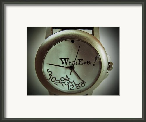What Ever Framed Print By Barbara Mcdevitt