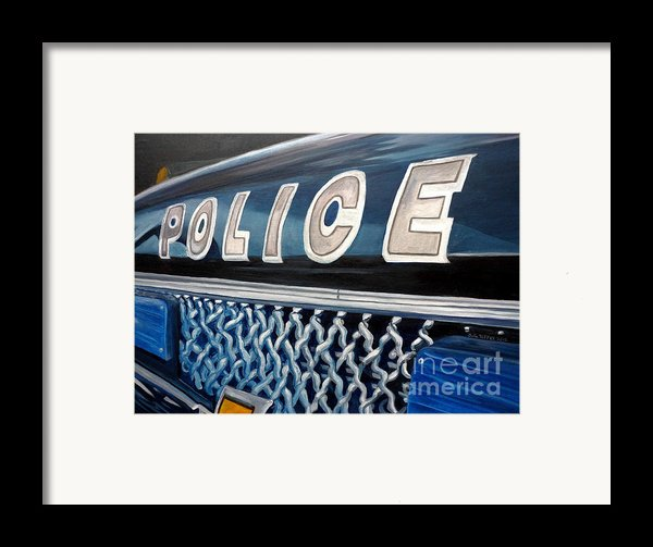 Whatcha Gonna Do When They Come For You? Framed Print By Julie Brugh Riffey