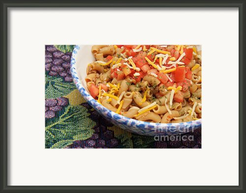 Wheat Pasta Goulash Framed Print By Andee Photography