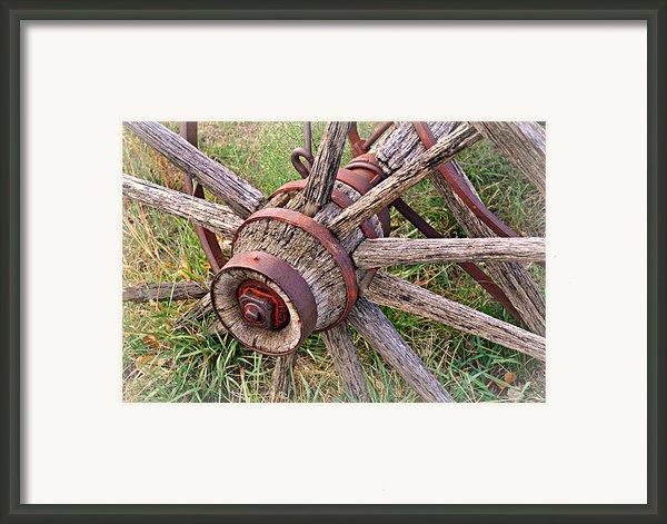 Wheel Of Old Framed Print By Marty Koch