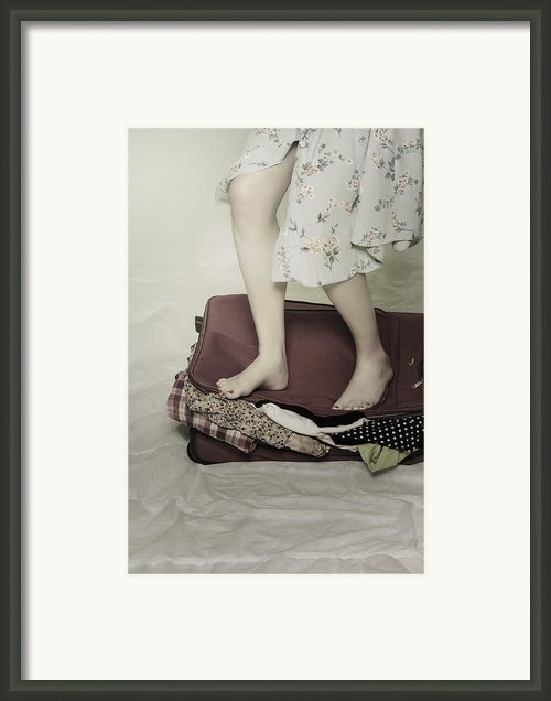 When A Woman Travels Framed Print By Joana Kruse