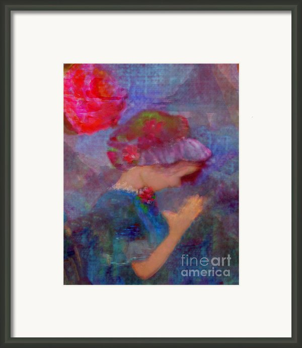 When Emmy Prays Framed Print By Deborah  Montana