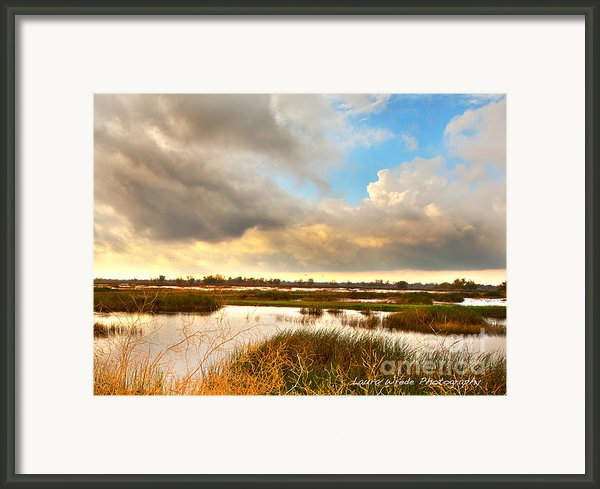 When The Rain Stopped Over Gray Lodge Framed Print By Artist And Photographer Laura Wrede