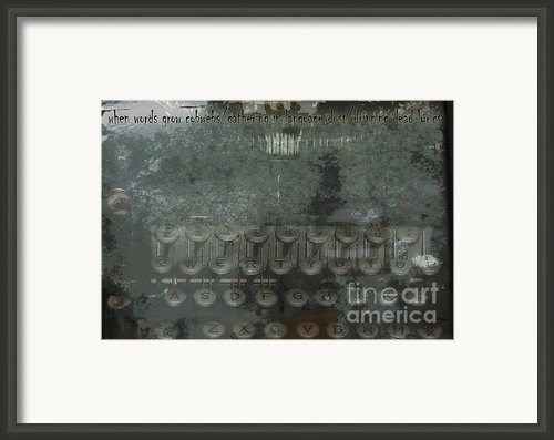 When Words Grow Cobwebs Framed Print By Steven  Digman