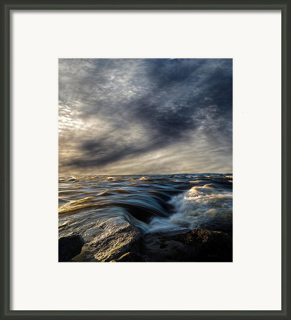 Where The River Kisses The Sea Framed Print By Bob Orsillo