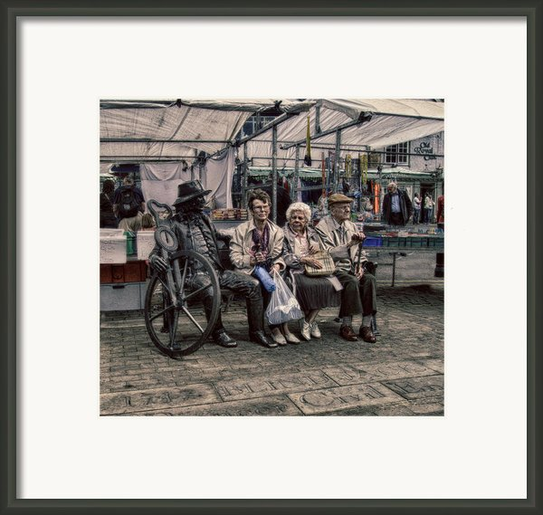 Which One Is The Statue Framed Print By Michael Braham