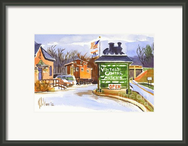 Whistle Junction In Ironton Missouri Framed Print By Kip Devore
