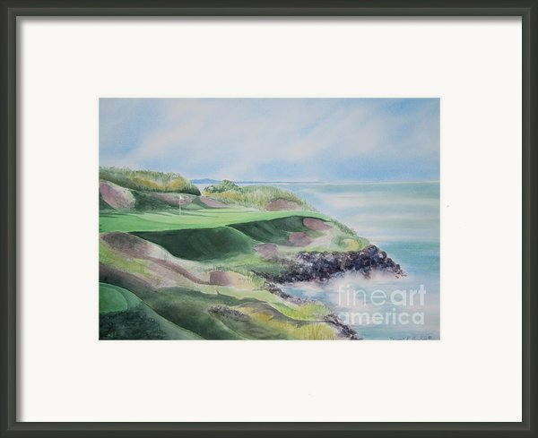 Whistling Straits 7th Hole Framed Print By Deborah Ronglien