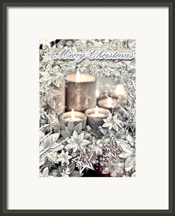 White Christmas Framed Print By Mo T