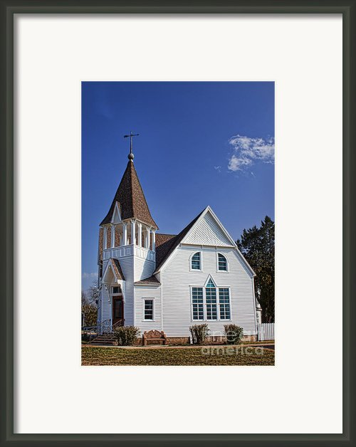 White Church Framed Print By Elena Nosyreva
