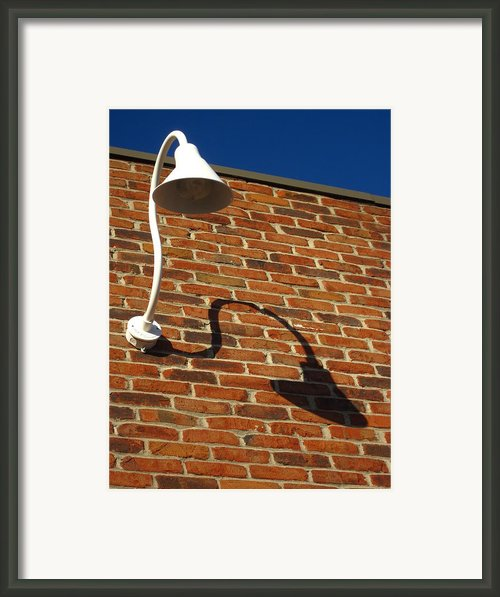 White Lamp With A Dark Secret Framed Print By Guy Ricketts