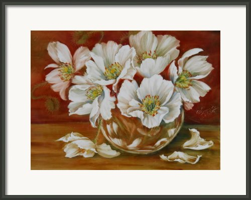 White Poppies Framed Print By Summer Celeste