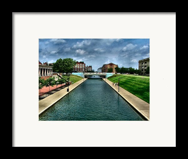 White River Park Canal In Indy Framed Print By Julie Dant