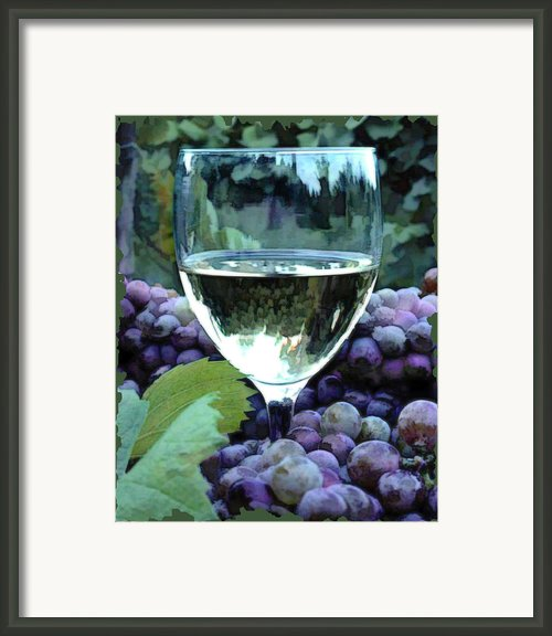 White Wine Reflections Framed Print By Elaine Plesser