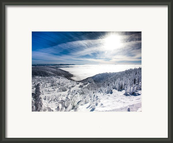 Whitefish Inversion Framed Print By Aaron Aldrich
