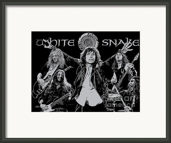 Whitesnake No.01 Framed Print By Caio Caldas