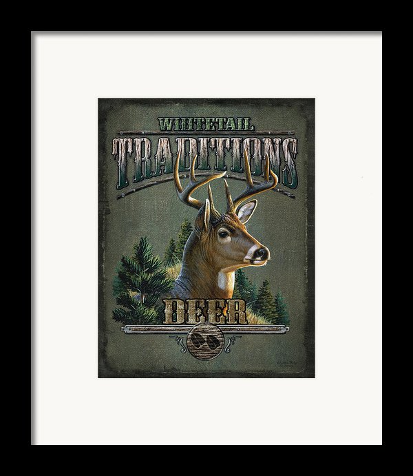 Whitetail Deer Traditions Framed Print By Jq Licensing