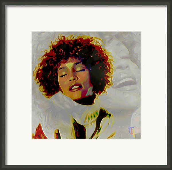 Whitney Houston Framed Print By Byron Fli Walker