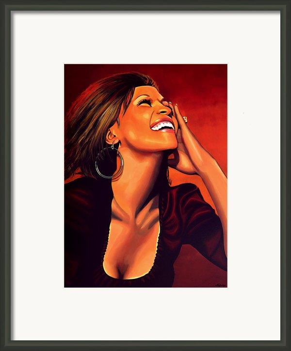 Whitney Houston Framed Print By Paul Meijering