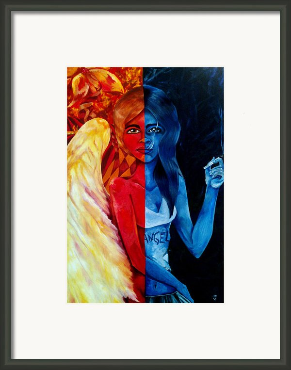 Who Is The Angel Framed Print By Victoria Dietz