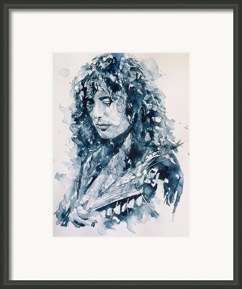 Whole Lotta Love Jimmy Page Framed Print By Paul Lovering