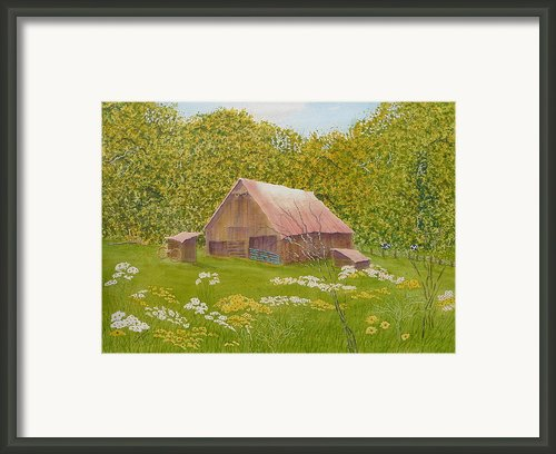 Whose Barn - What Barn - My Barn  Framed Print By Joel Deutsch