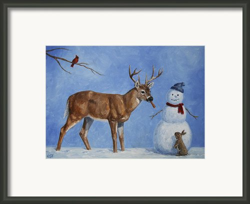 Whose Carrot? Framed Print By Crista Forest