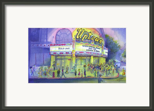 Widespread Panic Uptown Theatre  Framed Print By David Sockrider